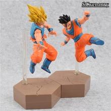 DBZ Son Goku Super Saiyan 2 Rigid Yellow Hair Transformation Action Figure (2 types)