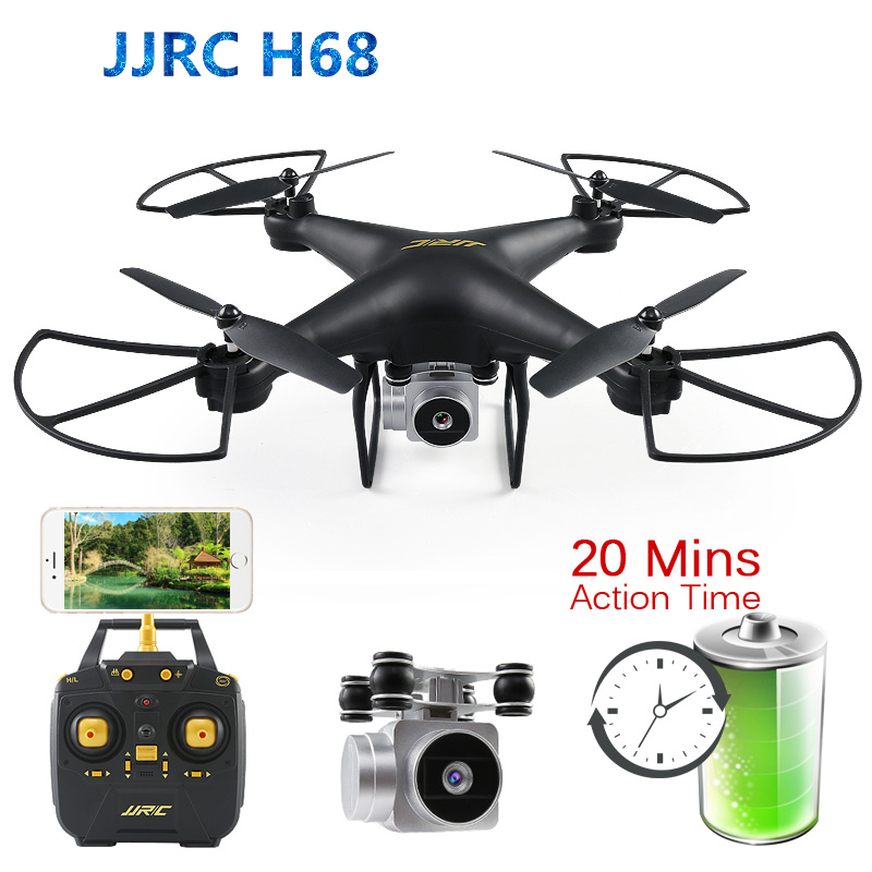 JJRC H68 Радиоуправляемый квадрокоптер с HD WiFi FPV камерой режим удержания высоты Безголовый Дрон 20 минут время полета селфи Дрон VS SYMA X5C