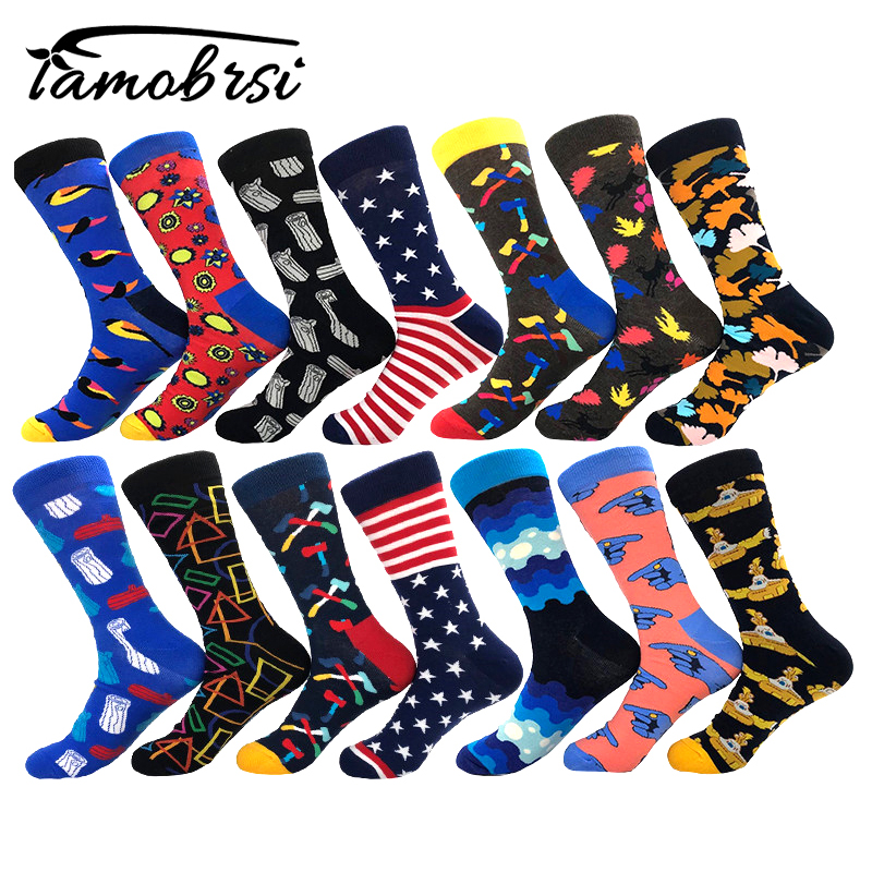 Fashion European American Cartoon Funny Crazy Hipster Winter Sox Women Streetwear Happy   Socks   Brand Men Cotton Thick Warm   Socks