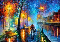 Hot Sale Wall Decor Craft About Romantic Street Modern Wall Art Canvas Oil Painting Paper For