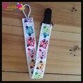 3 unids/lote Cartoon Owl Animal Prints Cinta Colorida Pezón Divertido Chupete Clip Titular Con Clip De Plástico Juguete Del Bebé Chupete Titular