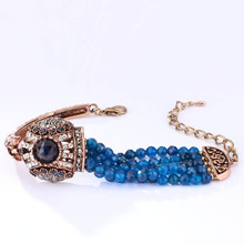 Crystal Antique Natural Stone Vintage Turkish Bracelet Jewelry For Women