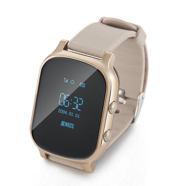 T58 smart watch crianças idosos posicionamento gps smart watch relógio cartão de chamada de telefone anti-perdido.