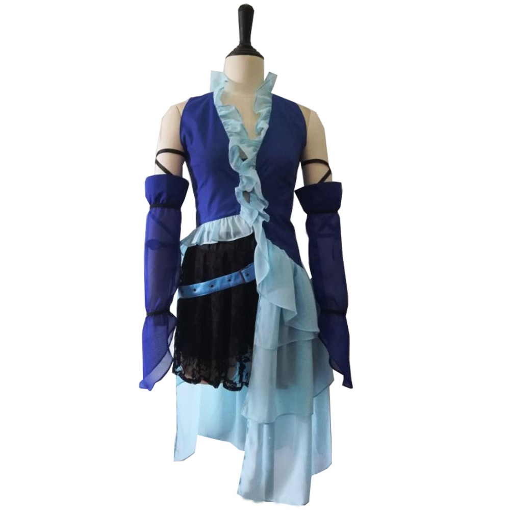 2017 Anime Final Fantasy Cosplay - Final Fantasy X Yuna Lenne Song Cosplay Costumes Yuna Costume image