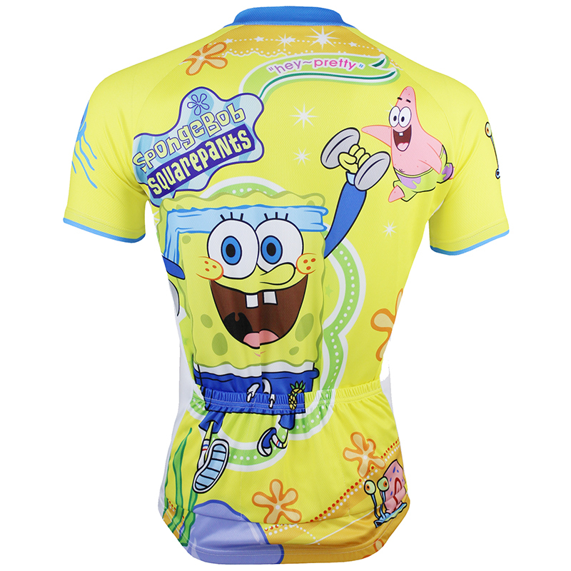 f81a9a51d 2015 Paladin SpongeBob Cycling Jersey Bicycle Short Sleeve Clothing Men  Outdoor Ropa Ciclismo Bicicletas MTB Fitness-in Cycling Jerseys from Sports  ...