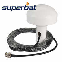 Superbat 1575.42+/-2 MHz Marine Aerial GPS Timing Antenna BNC Male Plug 5M RG58 Cable Navigation Antenna Signal Booster 3-5V