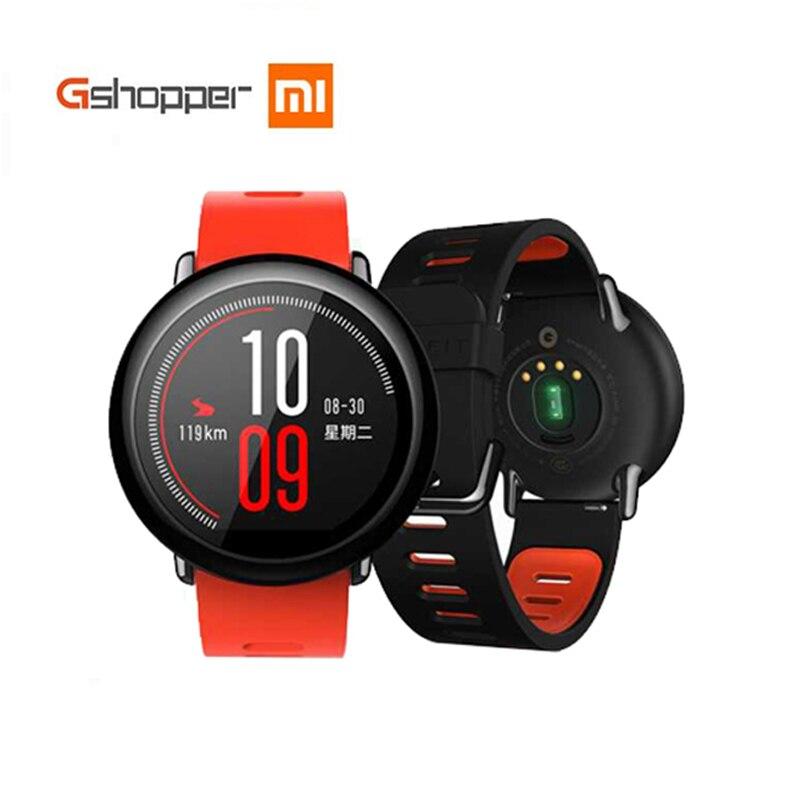 Original Xiaomi AMAZÔNIA Ritmo Huami Assistir Esportes Relógio Inteligente Inglês Versão Bluetooth 4.0 Monitor De Freqüência Cardíaca GPS Para Android IOS