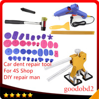 Car PDR Tools Paintless Dent Repair Tool set 36X Pulling Tabs Hammer Knock Down Pen for Car Herramentas +100W Melt Glue Gun A2