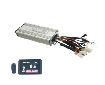 24V/36V/48V 500W 25A Ebike Brushelss Controller Regenerative and Reverse Function LCD8H Bicycle Conversion Part image