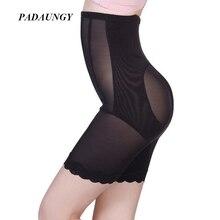 PADAUNGY Thin Butt Lifter Black Tummy Control Panties Waist Exercise Underwear High Waist Slimming Body Shapewear Hot Shapers