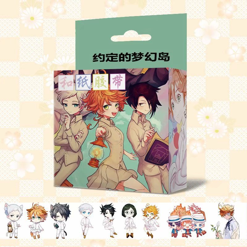 New 1.5cm*5m Anime The Promised Neverland Washi Tape DIY Scrapbooking Sticker Label Adhesive Tape