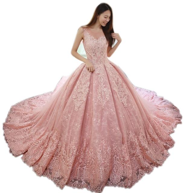 Vestidos de novia en colores 2019