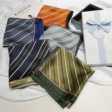 Spring Printing Silk 70*70cm Scarf Women Small Square 100%  Ladies Neck Ornament