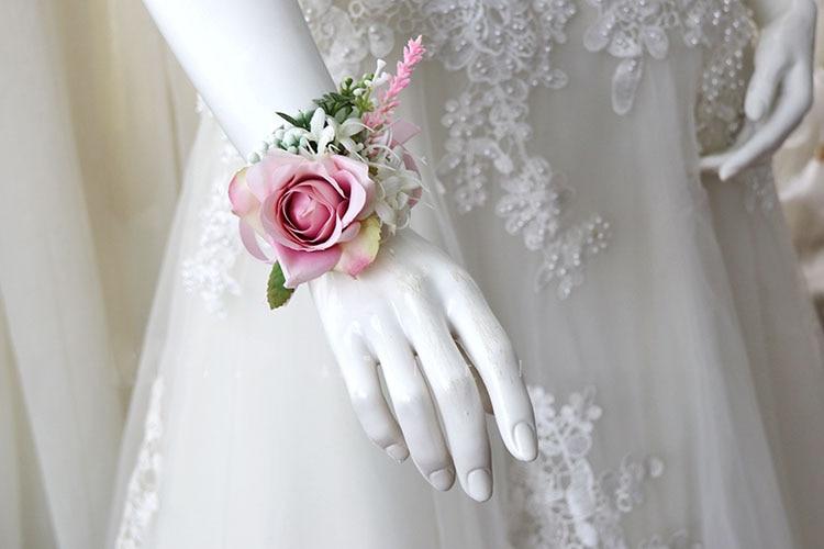 pink wrist corsage boutonniere wedding  (16)