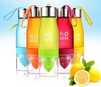 650ml H2O Lemon Juice Cup Fruit Water Bottle Infuser Drinkware For Outdoor Sports My Shaker Bottle