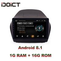 IDOICT Android 8.1 Car DVD Player GPS Navigation Multimedia For Hyundai ix35 Radio 2013 2017 car stereo car stereo