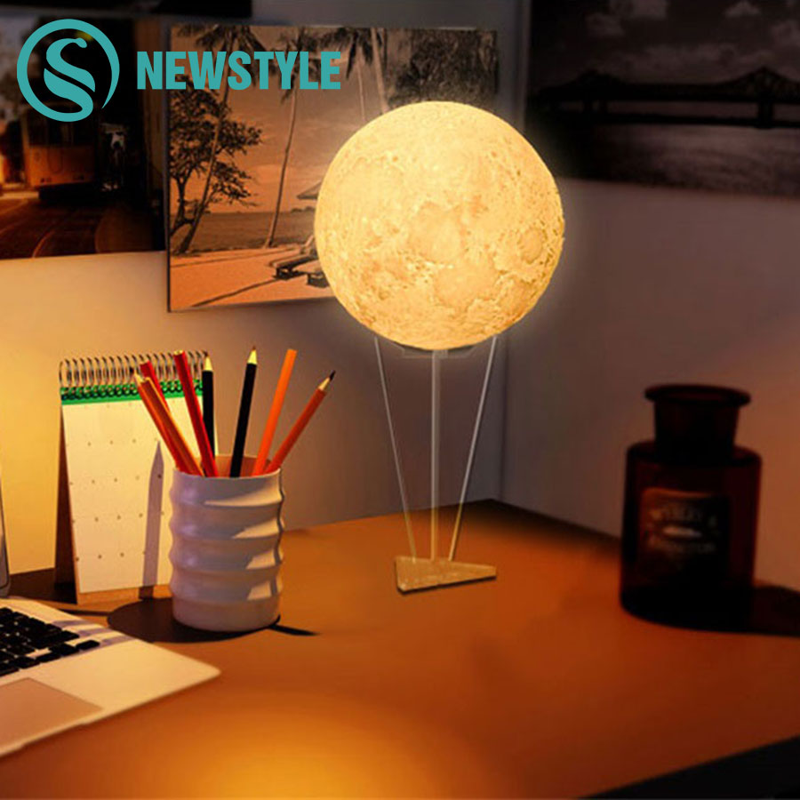 Creative 3D Print LED Moon Night Light RGB LED Moon Lamp Novelty Light for Bedroom Bookcase Home Decoration Christmas Gift 5 pcs printer spare part ink damper suiable for mimaki jv5 jv33