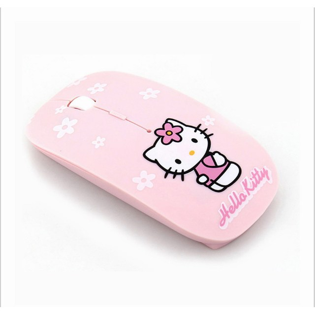 43827987fd1 New Hello Kitty Wireless Mouse 2.4Ghz USB Computer Mouse Pink Game Mice