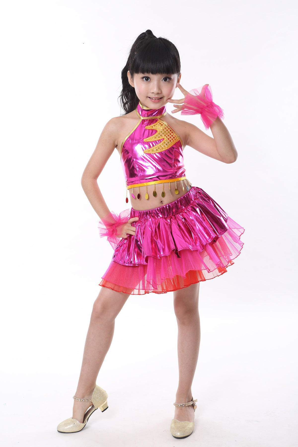 New Children 39 s Day Children 39 s Dance Wear Girls Latin Dance Performance Costumes Personalized Costumes Sequin Street Dance Wear in Ballet from Novelty amp Special Use