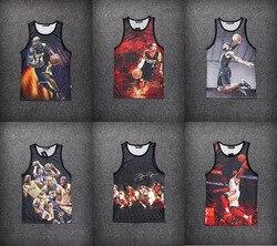 New 2015 men s summer tank tops 3d print rose floral chicago jordan 23 vest fit.jpg 250x250