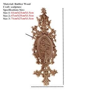 Image 2 - VZLX Hout Applicaties Beeldjes Decal Meubels Gesneden Window Decor Miniaturen Houten Ambachten Woondecoratie Accessoires DIY