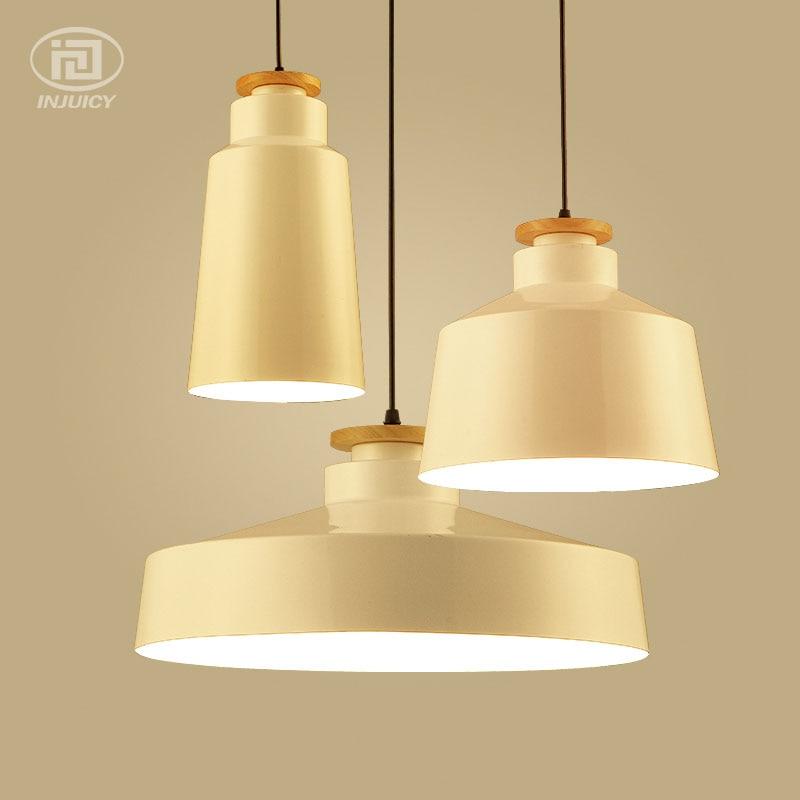 Minimalist Modern Vintage Industrial Pendant Lamps Wood & Aluminum Lampshade Loft Hanging Lights Art Fashion Decor Cafe Bar a1 black stent modern minimalist vintage