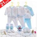 100% Top Taxa De Novas Roupas de Bebê Nascidos 21 pçs/set Kits Completos Para Crianças Material de Algodão Roupas de Bebê Menino Freeshipping
