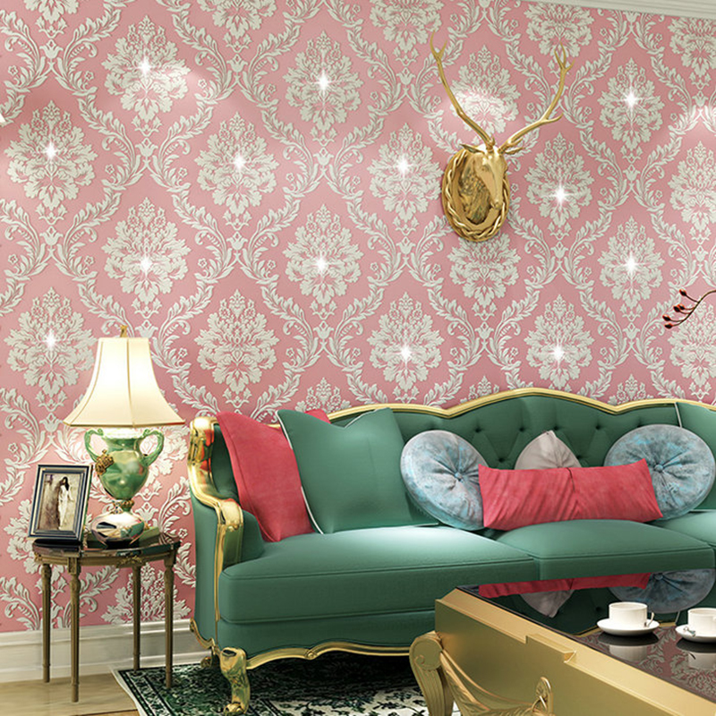 Classic European Style Diamond Damask Wallpaper Roll for Wall 3D Non ...