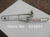 Di alta qualità 3 chiave trombone tenore lega di 85 speaker rame nichelato trombone strumento a fiato con boccaglio e borsa