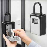 4 Digit Combination Lock Key Safe Storage Box Padlock Security Home Outdoor Supplies IJS998