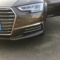 Car Styling For Audi A4 Sedan B9/9L 2016 2017 New ABS Chrome Exterior Front Foglight Eyelid Fog Light Eyebrow Lamp Cover Trims