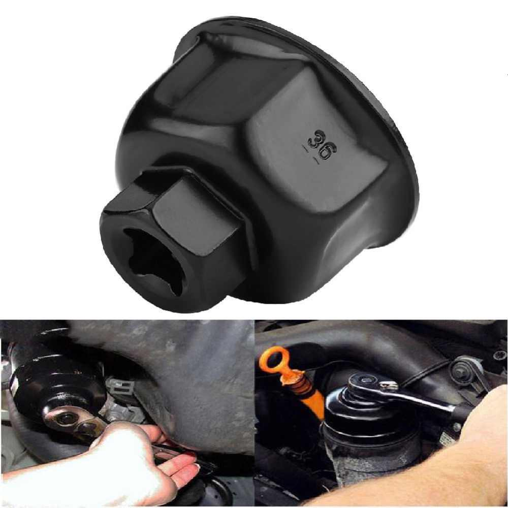 "Oliefiltersleutel 36mm 3/8 ""Auto Oliefiltersleutel Cap Socket Drive Remover Tool Universal voor BMW X5 audi A6L A8L"