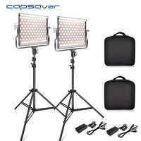 Capsaver L4500 2 Sets Fotografie Beleuchtung mit Stativ LED Video Licht für Studio YouTube Foto Lampe Bi-farbe 3200 k-5600 K CRI 95