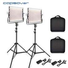 Capsaver L4500 2 Sets Fotografie Beleuchtung mit Stativ LED Video Licht für Studio YouTube Foto Lampe Bi farbe 3200 k 5600 K CRI 95