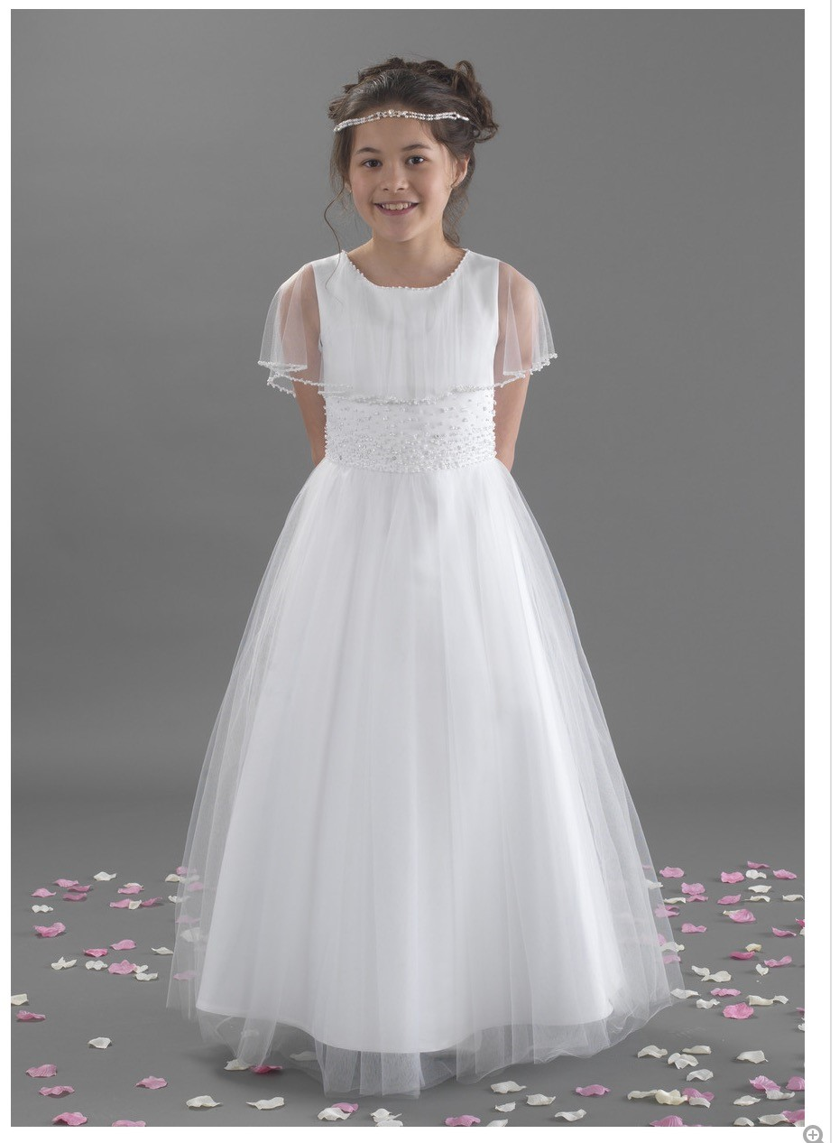A-Line Flower Girl Dress O-neck Mother Daughter Dresses Kids Wedding Party Dress Sleeveless First Communion Dresses for Girl цена