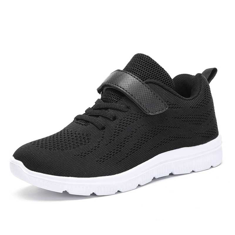 2b79af851ed ... 2018 Hot Style Breathable Mesh Kid Sneaker Sport Running Shoes for Boys  Girls Lacing Lightweight Black ...