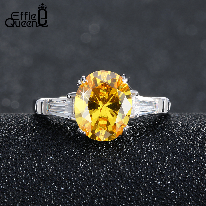 Effie Queen New font b Trendy b font Luxury Austrian Zircon Engagement font b Ring b