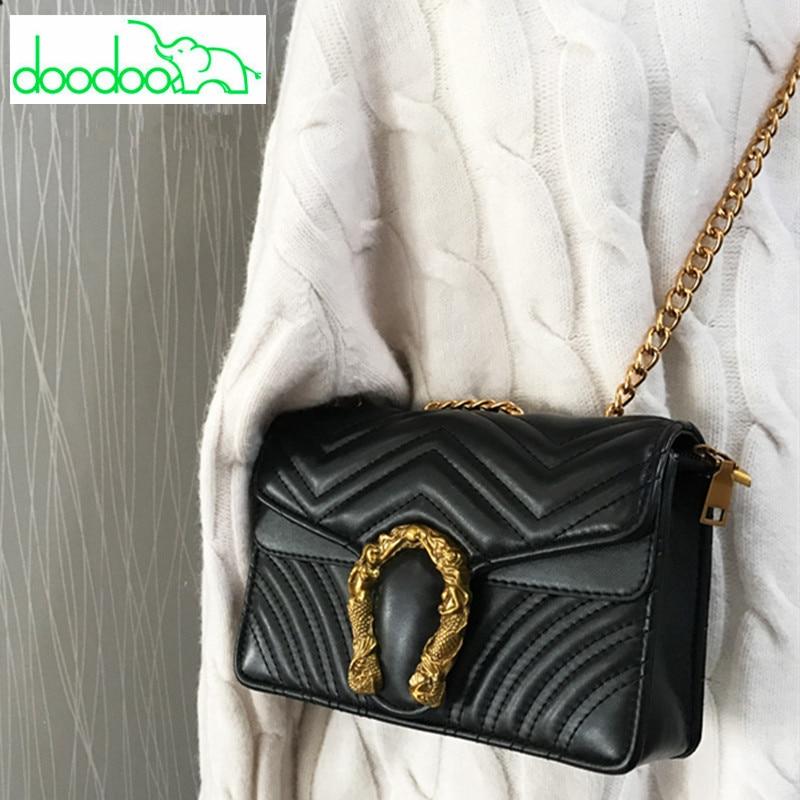 Leather Chain Shoulder Messenger Bags Luxury Women Handbags Locks Designer Handbags Fashion Lady Flap Bag Clutch Purses Cloe Bag lovielf new women lady girl simple classy elegant vintage chain flap shoulder bags handbags