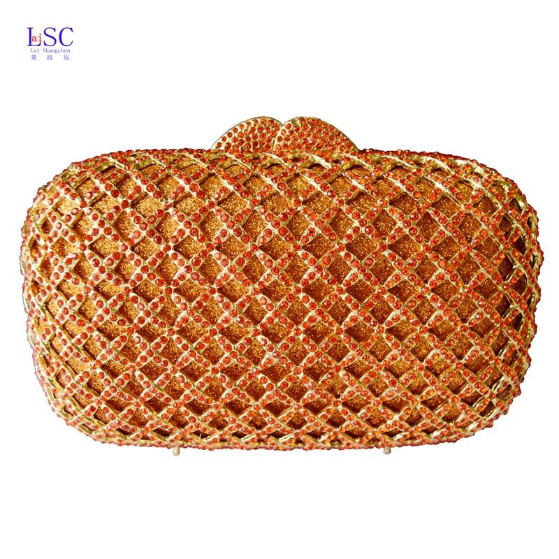 ФОТО lattice Pattern Clutch Evening Bag Luxury crystal Party Clutch Purse Cocktail Bag Women Studded Diamond Lady Handbag SC249