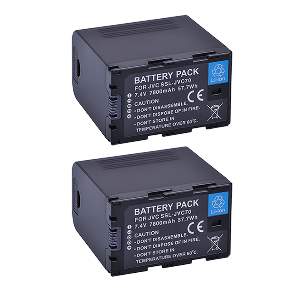 2Pcs SSL-JVC70 SSLJVC75 SSL-JVC50 JVC70 Battery 5200MaH with USB Output for JVC GY-HM600, GY-HM650, GY-HMQ10, GY-LS300 видеокамера jvc gy hm70