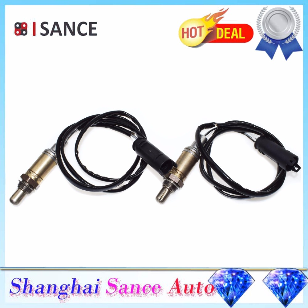 ISANCE 2pcs Rear Downstream Oxygen Sensor 11781433940 234 4683 For BMW E46 320i 323Ci 323i 325i