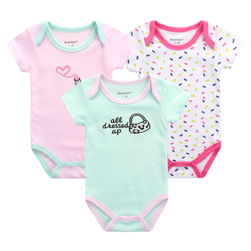 3pcs/lot Baby Bodysuits Cotton Clothing for Newborn Baby Girl Boy Clothes Short Sleeve Bodysuit Baby Body Bebes Menino Overalls