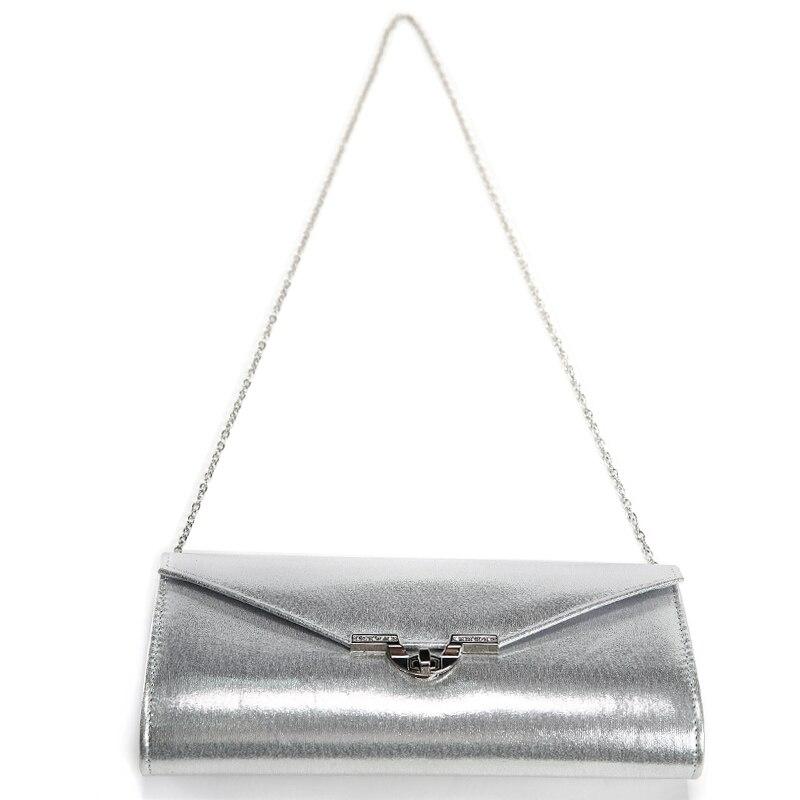Lady PU Leather Evening Bags Elegant Day Pouch Clutches Women Messenger Shoulder Bag Bridal Wedding Purse
