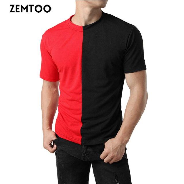 24ba78daee4c zemtoo T Shirt Men 20178 New Arrival Summer Fashion Casual Short-sleeved  Slim Fit Men T-shirt Brand Casual T-shirts Tops Tees