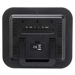 Image 5 - Tempo controlado rádio dcf rcc relógio de parede digital com temperatura termômetro higrômetro umidade/mesa decorativa despertador