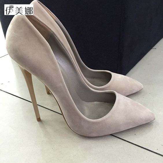 Pumps 2017 summer ol single shoes shallow mouth pointed toe high-heeled shoes thin heels sexy pink women's high-heeled shoes купить