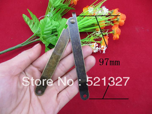 Large 97 * 11MM support brace hinge antique wooden legs are hinged angle gift boxes