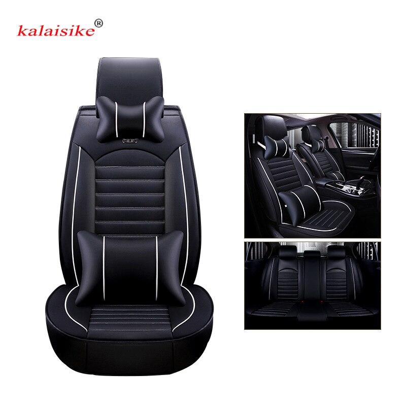 Housses de siège de voiture universelles en cuir Kalaisike pour Ford tous les modèles focus fiesta s-max mondeo explorer ecosport style de voiture