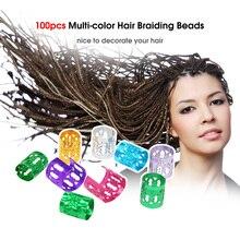 100 шт дреды аксессуары для волос кольца для волос манжеты металлические бусины для косичек алюминиевые украшения обручи