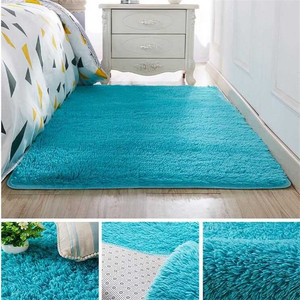 Living room coffee table blanket Nordic style long hair carpet bedroom bedside mat Thickened washed silk hair non-slip rug(China)